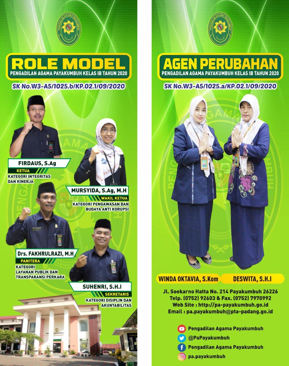 Role Model dan Agent of Change Pengadilan Agama Payakumbuh
