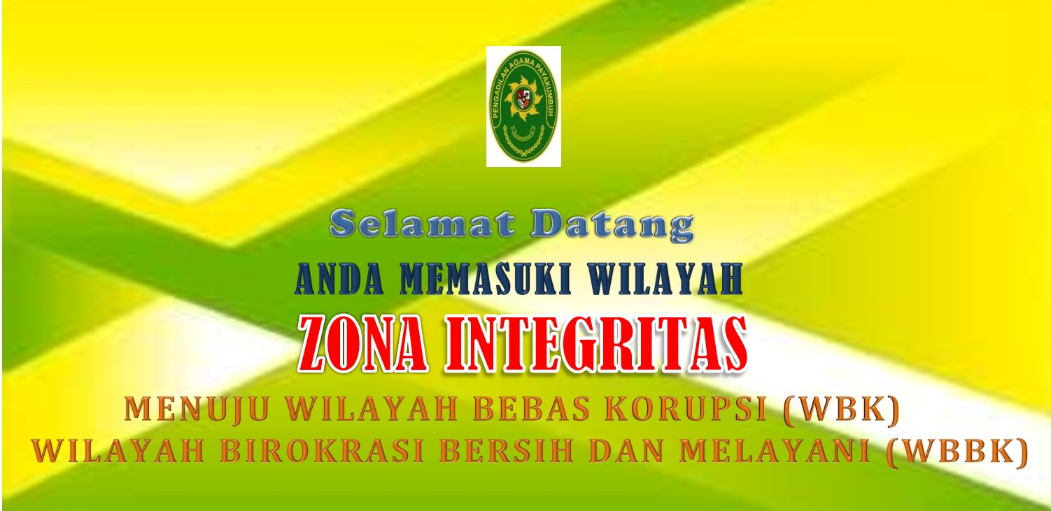 Wilayah Zona Integritas Pengadilan Agama Payakumbuh