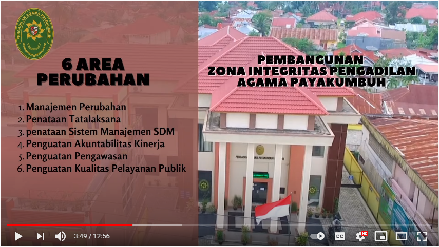 Zona Integritas Pengadilan Agama Payakumbuh