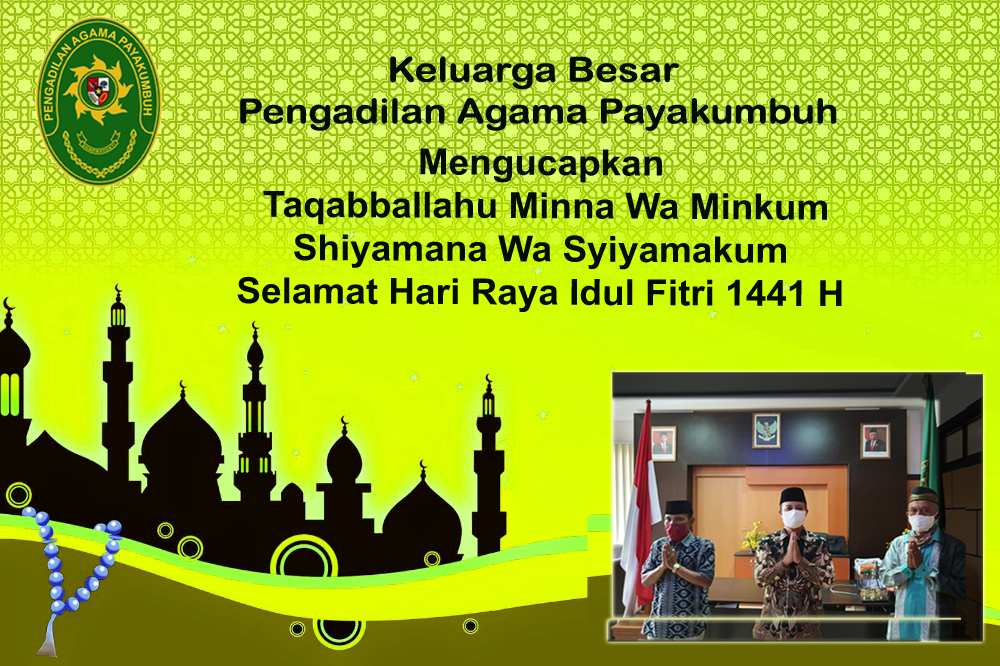 Selamat Hari Raya Idul Fitri 1 Syawal 1441 H
